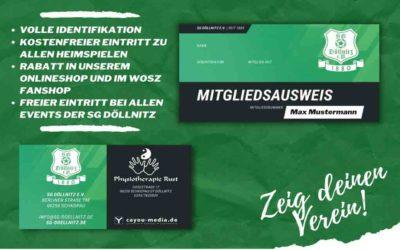 Mitgliedsausweise für jedes Mitglied der SGD